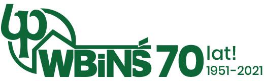 Logo 70-lecie WBiNŚ PB